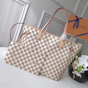 Сумка LOUIS VUITTON AZUR CANVAS NEVERFULL MM