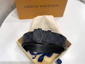 Ремень LOUIS VUITTON DAMIER GRAPHITE CANVAS INITIALES 40 мм