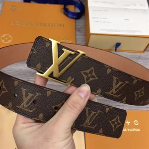 ремень LOUIS VUITTON MONOGRAM CANVAS INITIALS 40 мм