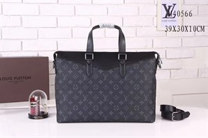 Портфель серый LOUIS VUITTON Explorer Monogram Eclipse (LUX)